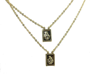 Scapular 18k Gold Plated Adjustable Necklace - Escapulario Adjustable Necklace