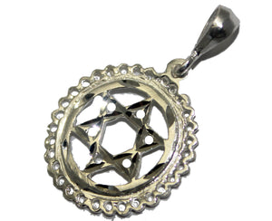 Star of David .925 Sterling Silver Pendant - David's Star Sterling Silver