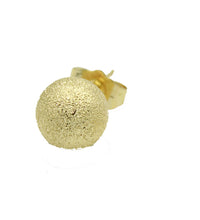 Sparkling Ball 10mm 18k Gold Plated Stud Earrings with Butterfly Backing