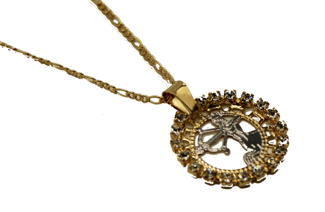 Sagittarius Charm Pendant 18k Gold Plated with 20 inch Chain