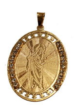 San Judas Tadeo - Saint Jude Thaddeus Medal 18K Gold Plated Medalla with 20 inch Chain