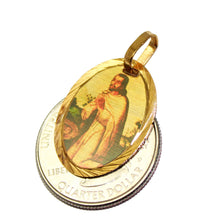San Juan Diego Mexico Medal 14k Gold Plated with 18 Inch - San Juan Diego Mexico