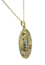 San Judas Tadeo - St Jude Thaddeus Medal 14k Gold Plated with 22 inch Chain