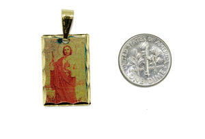 San Judas Tadeo Medal Gold Plated with 20 inch Chain - St. Jude Thaddeus Medal