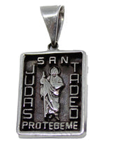 San Judas Tadeo Pendant .925 Sterling Silver - St Jude Thaddeus .925 Sterling Silver Mexico