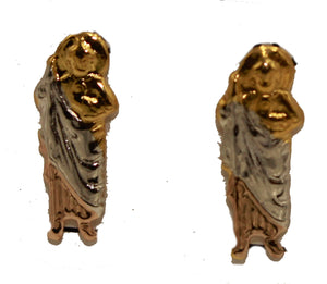 San Judas Tadeo - St. Jude Thaddeus 18k Gold Plated Screw Back Earrings