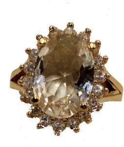 Princess Cubic Zirconia18k Gold Plated Ring -  Princess CZ Ring Size 7 to 9