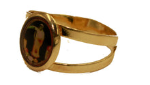 Santa Muerte Grim Reaper 18k Gold Plated Ring - Holy Death Ring 18k Gold Plated