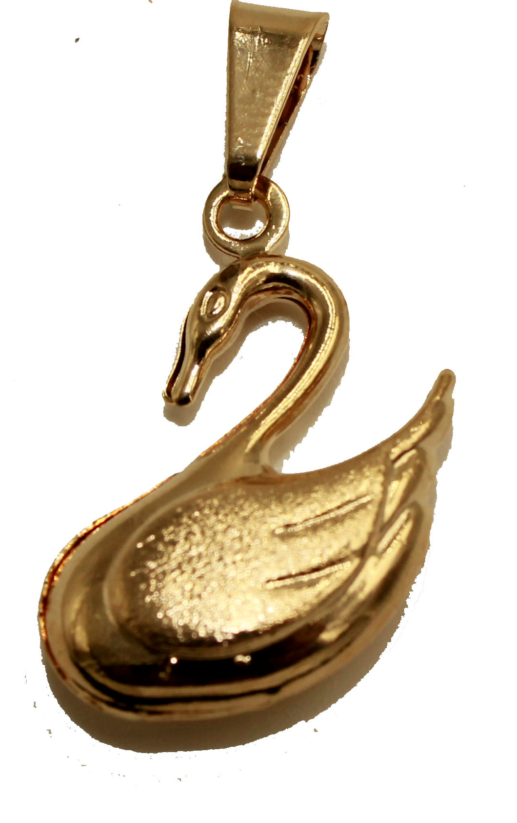 Swan 18k Gold Plated Pendant with 20 inch Chain - Majestic Swan Necklace