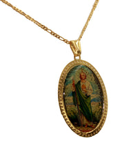 San Judas Tadeo Medal Saint Jude Medal 18K Gold Plated Medal with 20 inch Chain