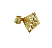 Pyramid 3D Pendant 18k Gold Plated with 18 Inch Chain - Pyramid Luck Necklace