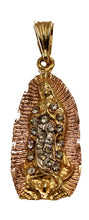 Virgen de Guadalupe Medal 18k Gold Plated Pendant with 22 inch Chain - Guadalupe