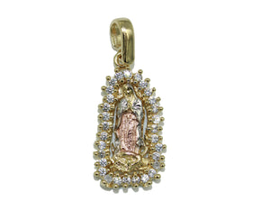 Virgen de Guadalupe Medal Necklace 18k Gold Plated with 20 inch Chain