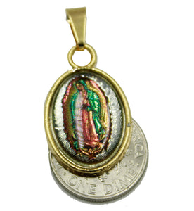 Virgen de Guadalupe Medal - Our Lady of Guadalupe 18K Gold Plated With 18 Chain