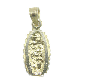 Virgen de Guadalupe Pendant 10k Yellow Gold - Guadalupe Charm 10k Yellow Gold