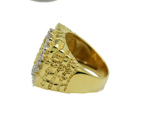 Virgen De Guadalupe Morenita with CZ 18k Gold Plated Ring Size 11