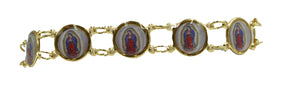 Virgen de Guadalupe 18k Gold Plated 7.5 inch Bracelet - Our Lady of Guadalupe