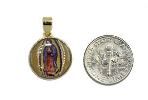 Virgen de Guadalupe Medalla - Our Lady Of Guadalupe Medal 18k Gold Plated Medal