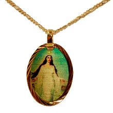 Virgen Del Mar Medalla - Our Lady of the Sea Medal 14k Gold Plated with Chain