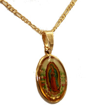 Virgen de Guadalupe Pendant 18K Gold Plated With 20 inch Chain - Guadalupe