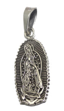 Virgen de Guadalupe .925 Sterling Silver Pendant - Our Lady of Guadalupe Taxco
