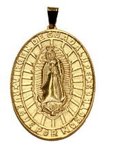 Virgen de Guadalupe Medal 18K Gold Plated with 22 inch Chain - Guadalupe Medal