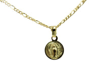 Virgen De Guadalupe Oval Medal - Our Lady of Guadalupe Medal with 18 inch Chain