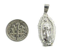 Virgen de Guadalupe .925 Sterling Silver Pendant - Our Lady of Guadalupe