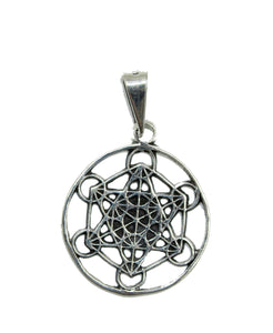 Witch Knot Protection Pendant .925 Sterling Silver - Witch Knot Protection Charm