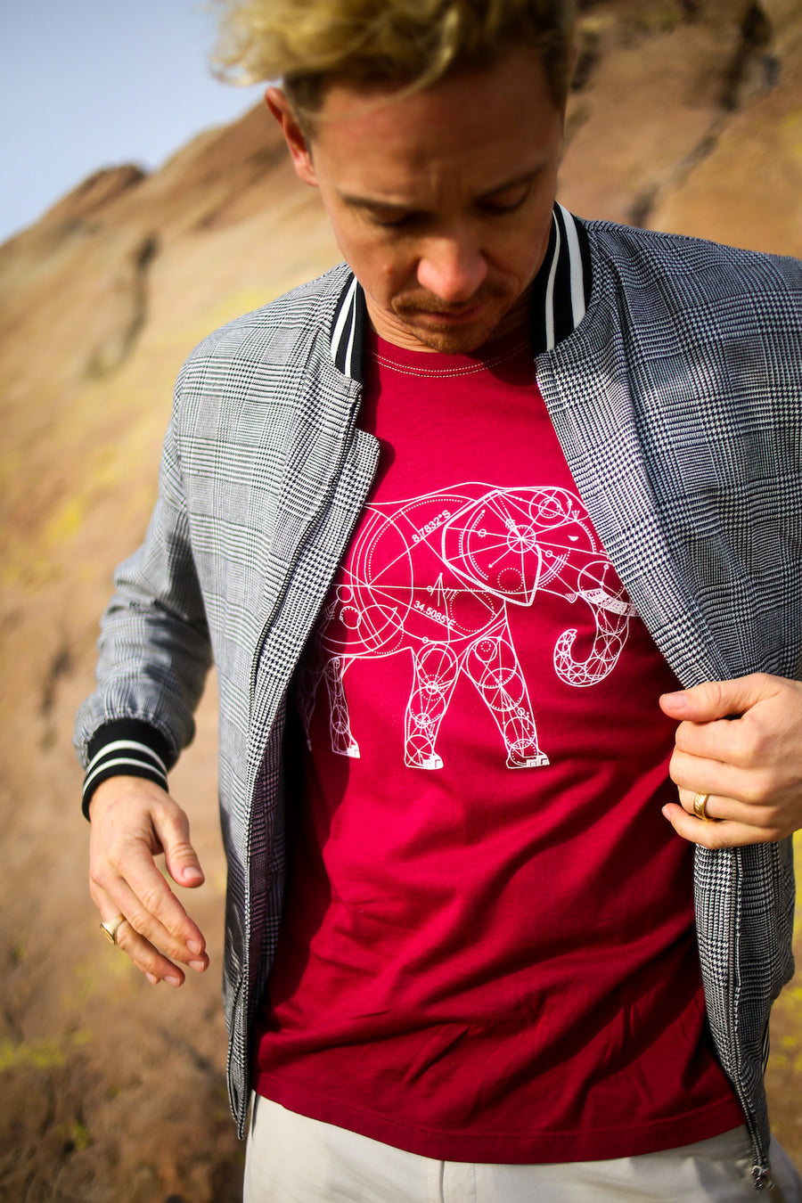 Elephant Cranberry Crew T-shirt