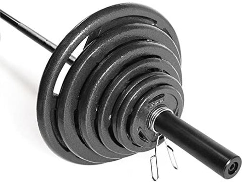 300lb Barbell Weight Set with 7ft Olympic Barbell-Gains Everyday