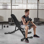 Adjustable Utility Weight Bench-Gains Everyday