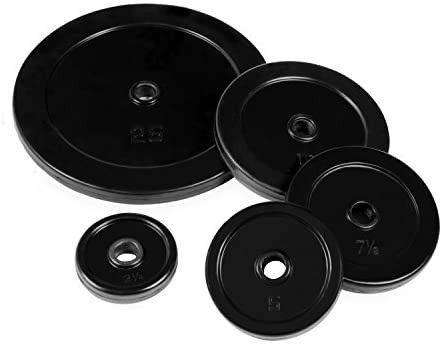 Black Rubber Coated Standard 1-Inch Weights (Single Plate)-Gains Everyday