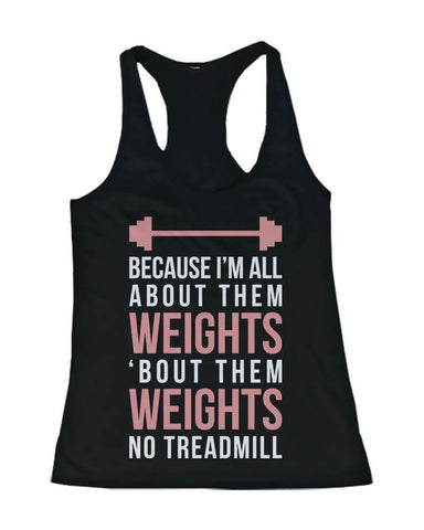 Funny Pink Design Workout Tank Top - All About Them Weight - Gym Clothes-Gains Everyday