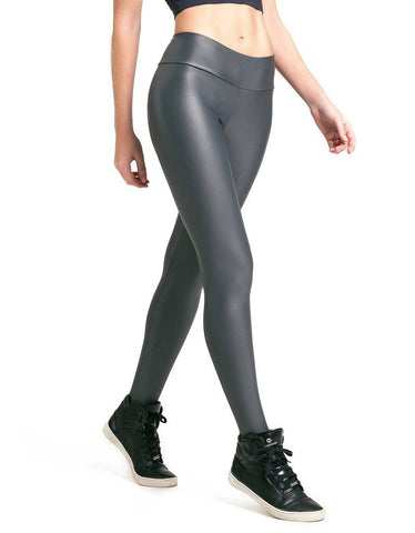 Gray Liquid Scrunch Leggings-Gains Everyday