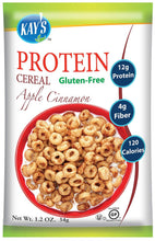 Kay's Naturals Protein Breakfast Cereal, Apple Cinnamon, Gluten-Free, Low Carbs, Low Fat, Diabetes Friendly, (Pack of 6) - Gains Everyday