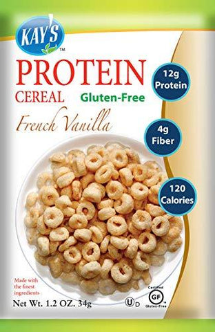 Kay's Naturals Protein Breakfast Cereal, French Vanilla, Gluten-Free, Low Carbs, Low Fat, Diabetes Friendly, (Pack of 6)-Gains Everyday