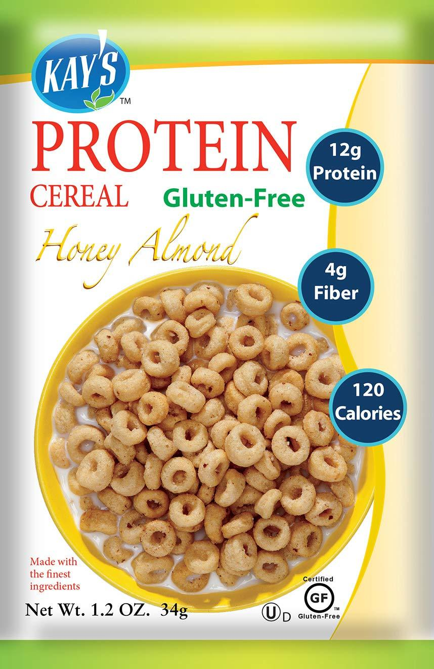Kay's Naturals Protein Breakfast Cereal, Honey Almond, Gluten-Free, Low Carbs, Low Fat, Diabetes Friendly (Pack of 6) - Gains Everyday