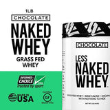 Less Naked Chocolate Protein 1LB - All Natural Grass Fed Whey Protein Powder, Organic Chocolate, and Coconut Sugar - GMO, Soy, and Gluten Free-Gains Everyday