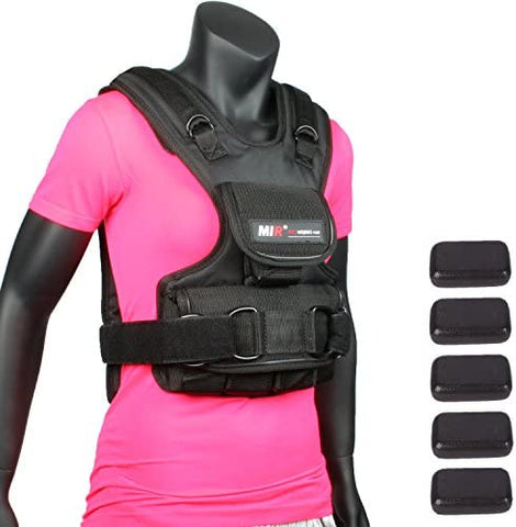 MIR - Women Adjustable Weighted Vest (20lbs)-Gains Everyday