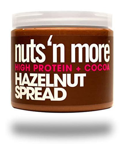 Nuts 'N More Hazelnut Cocoa Spread, High Protein Nut Butter Snack, Low Carb, Low Sugar, Gluten-Free, All Natural, 16 oz Jar-Gains Everyday