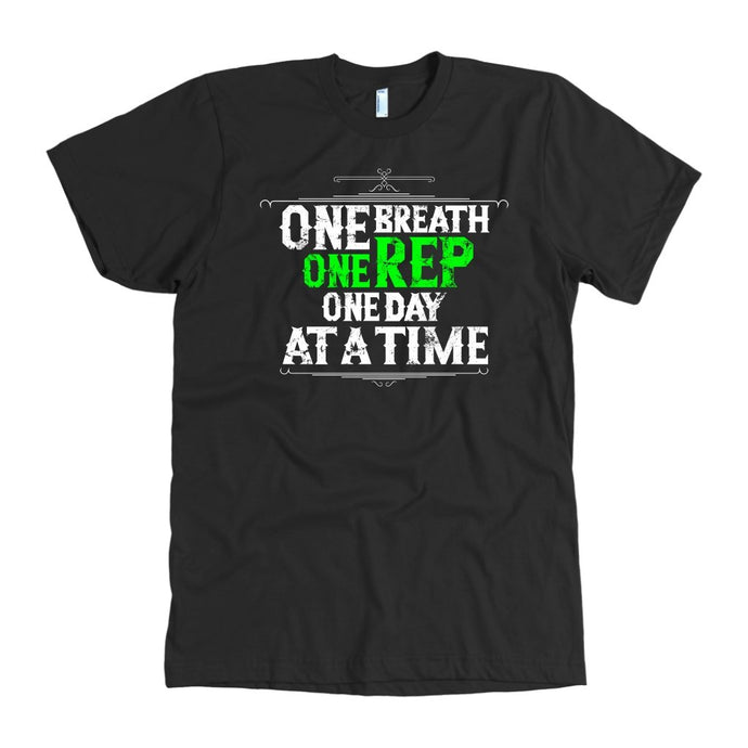 One Rep Motivational Gym Workout T-Shirt - Gains Everyday