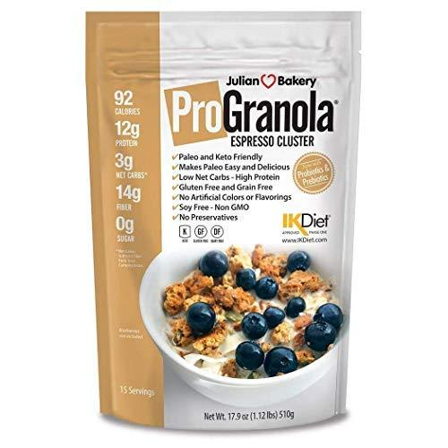 ProGranola 12g Protein Cereal : (Espresso/Coffee) (Paleo : 3 Net Carbs : Gluten-Free : Grain-Free) (15 Servings) - Gains Everyday