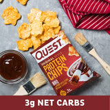 Quest Nutrition BBQ Protein Chips, Low Carb, Gluten Free, Potato Free, Baked, 8 Count-Gains Everyday