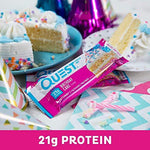gains-everyday,Quest Nutrition Birthday Cake Protein Bar, High Protein, Low Carb, Gluten Free, Keto Friendly, 12 Count,Quest Nutrition,Protein Bar