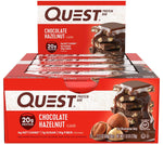 gains-everyday,Quest Nutrition Chocolate Hazelnut Protein Bar, High Protein, Low Carb, Gluten Free, Keto Friendly, 12 Count,Quest Nutrition,Protein Bar