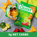 gains-everyday,Quest Nutrition Tortilla Style Protein Chips, Chili Lime, Low Carb, Gluten Free, Baked, 12 Count,Quest Nutrition,Protein Chips