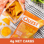 Quest Nutrition Tortilla Style Protein Chips, Nacho Cheese, Low Carb, Gluten Free, Baked, 12 Count-Gains Everyday