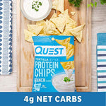 Quest Nutrition Tortilla Style Protein Chips, Ranch, Low Carb, Gluten Free, Baked, 12 Count-Gains Everyday