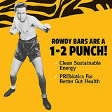 ROWDY BAR Prebiotic Protein Bar Gluten Free, Non GMO, Low Glycemic (Variety Pack, 8 Bar Variety)-Gains Everyday